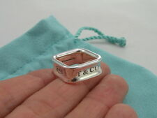Size 4 3/4 Tiffany & Co Ring Sterling Silver 925 Square Cushion Band 1837