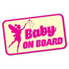 Baby On Board Fairy Sticker Decal Car Vinyl Sign Window Cute #6310EN