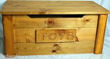 toy box handmade solid wooden pine trunk GEORGIAN OAK