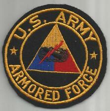 """WW 2 United States Army Armored Force 4"""" Jacket Patch Inv# 211"""