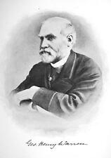 GEORGE H. WARREN New York Lawyer & Financier - 1895 Portrait Antique Print