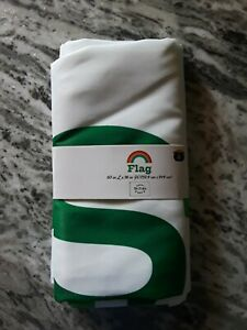 """St Patrick's Day Flag 60"""" x 36"""" New In Package Green/White Happy St. Pat's Day"""