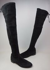 Stuart Weitzman Lowland Over the Knee Suede Boots Black Size 9.5 M