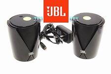 JBL Speakers Jembe Powerful Computer TV Home Desktop Entertainment BLACK 2 pcs