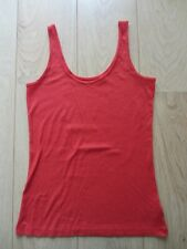 Ladies NEXT Red Ribbed Vest Top - Size 12