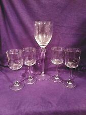 VINTAGE WINE GLASS GOBLETS STEMMED CRYSTAL CLEAR ANTIQUE