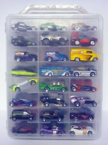 HOT WHEELS 48 CAR CARRY CASE WITH CARS Miscellaneous Die-Cast Cars