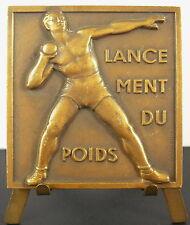 Médaille Sport Lancement du Poids Athlétisme olympique olympic sc Hochard medal