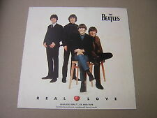 THE BEATLES. REAL LOVE. ORIGINAL RECORD STORE ADVERT FOR SINGLE RELEASE 1996.