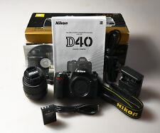 Nikon D40 6.1 MP Digital SLR Camera Kit w/ AF-S DX ED II G 18-55mm Lens 3456513