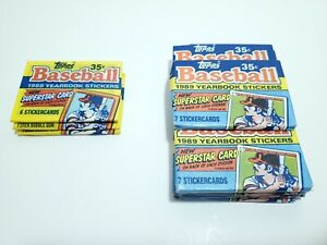 TOPPS Yearbook Baseball Stickers 1988 & 1999 Sealed Lot of 14