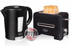 Quest 2 Slice Toaster & 1.7L Jarra Hervidor Inalámbrico Kit Conjunto de Cocina En Negro Y Plateado