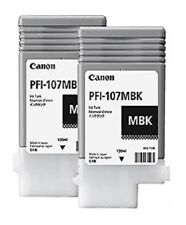2x ORIGINAL TINTA CANON IPF670 IPF680 ipf685/pfi-107mbk NEGRO MATE CARTUCHO