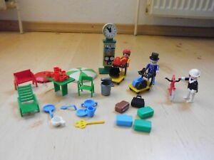 Playmobil Grillparty, Bahnhof und Figuren - selten -