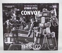 TAKARA TOMY Transformers THS-02 Hybrid G1 Convoy Optimus Prime Black w/ TRAILER