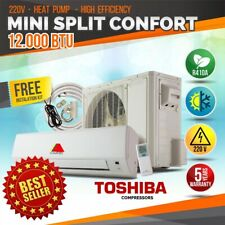 12000 Btu Air Conditioner Mini Split Ac System Ductless Heat Pump 220V/60Hz