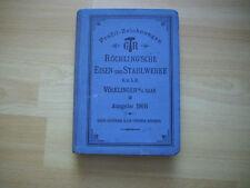 Profil-Zeichnungen Röchling´sche Eisen-und Stahlwerke Ausgabe 1908
