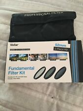 Vivitar 52mm 3-Piece UV/CPL/ND8 Multi-Coated HD Pro Filter Kit