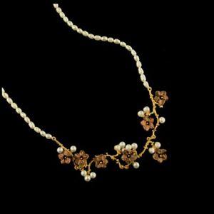 Michael Michaud Ume Blossom Pearl Necklace 9250BZ FREE SHIP WW