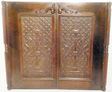 "vintage* RCA VICTOR RE-75:  2 ORNATE INTRICATE CABINET DOORS approx 29"" x 25"""