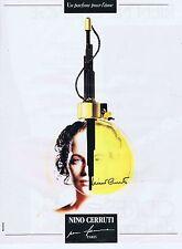 PUBLICITE ADVERTISING 045 1990 NINO CERRUTTI pour femmes