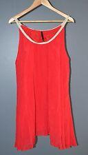 Women's Crossroads Red Singlet Crinkle Tunic Top Size 22