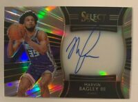 2018-19 NBA Select Rookie Auto Marvin Bagley III Sacramento Kings /199 RC Prizm