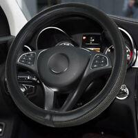 "Car steering Wheel Cover Black Leather Rhinestone Bling Diamond 15""/38cm"