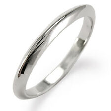 18k Knife Edge White Gold Plain Wedding Band Ring sizes 3.5 to 9.5 R1101