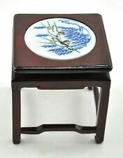 Chinese ROSEWOOD Porcelain INLAID miniature DOLL Table furniture/ Wood Stand