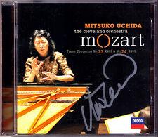 Mitsuko UCHIDA Signiert MOZART Piano Concerto 23 24 Cleveland CD Klavierkonzert