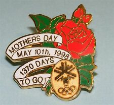 Salt Lake City 2002 Winter Olympics Games Holiday Pin - Mother's Day 1998