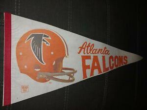 Vintage 70s - 80s ATLANTA FALCONS NFL Football Classic Helmet FELT Pennant