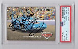 2006 Disney Pixar Cars The King Richard Petty Signed Auto Trading Card 9 PSA/DNA