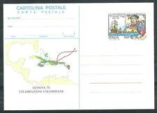 1992 ITALIA CARTOLINA POSTALE SCOPERTA AMERICA SECONDO VIAGGIO DI COLOMBO - ED