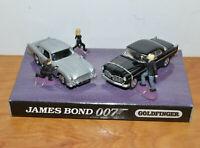 JOHNNY LIGHTNING JAMES BOND GOLDFINGER DIE-CAST CAR SET WITH MINI FIGURES
