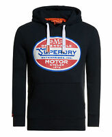 New Mens Superdry Dependable Classic Hoodie Eclipse Navy