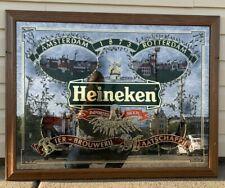 RARE. Heineken Framed Glass Picture Wall Art