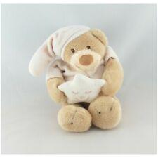 Doudou ours beige rose bonnet étoile NATTOU - Ours Classique