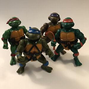 1988 Lot Of 4 TMNT Teenage Mutant Ninja Turtles Figures Raphael Mikey Donny Leo