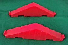 """Vintage  Lincoln Logs  #6  & #18 Replacement Red Roof 6 """" Truss Gables Lot of 2"""