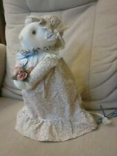 Country Calico Mouse Sock Doll Shelf Sitter Handcrafted A Mouse Factory Creation