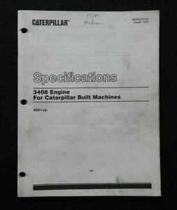 1993 CATERPILLAR 3408 DIESEL ENGINES SPECIFICATIONS MANUAL NICE D8L TRACTOR