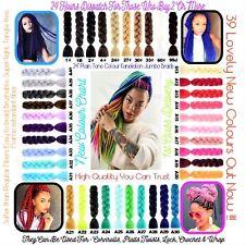 "U.K  24"" High Quality Plain Dip Dye Kanekalon Jumbo Braid Hair 24 Hours Delivery"
