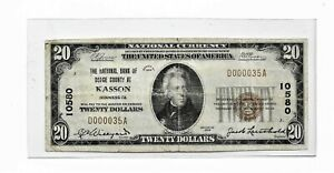 1929-TWENTY DOLLAR  NATIONAL CURRENCY  [ KASSON, MINNESOTA ]   = rare note=