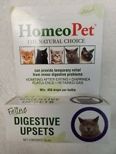 HomeoPet Feline Digestive Upsets 15 mlL  Homeopathic Stomach Relief for Cats
