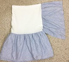 Laura Ashley Twin Dust Ruffle Bed Skirt Shabby Cottage Country Blue White Ruffle