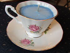 Royal Imperial Finest Bone China cup, candle, and saucer, floral pattern