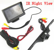 Waterproof DC12V IR Night Vision Car SUV Reverse Camera Parking Kit LCD Monitor