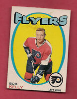 1971-72 OPC # 203 PHILADELPHIA FLYERS BOB KELLY ROOKIE CARD